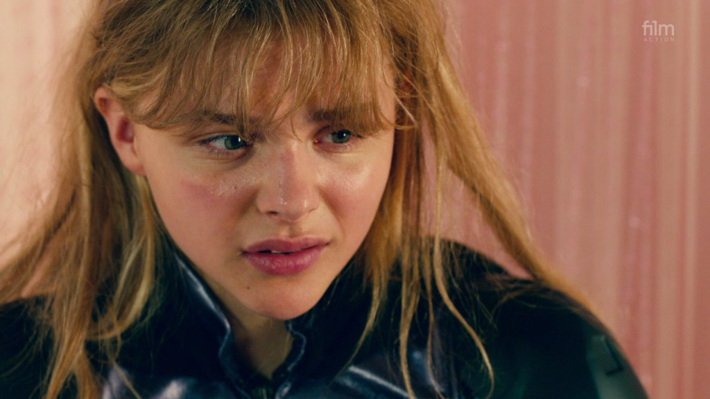 Close up of Chloë Grace Moretz as Hit Girl in Kick Ass 2