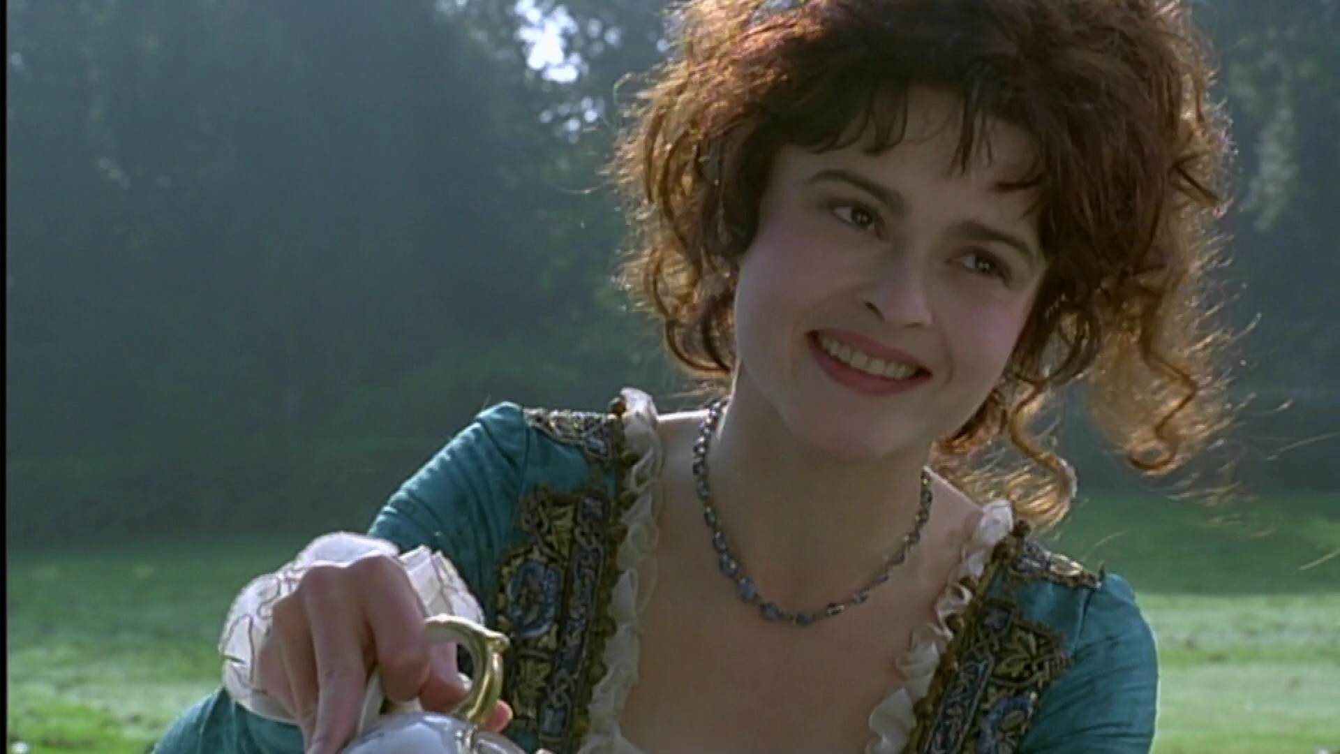 Helena Bonham Carter in Twelfth Night, pouring tea