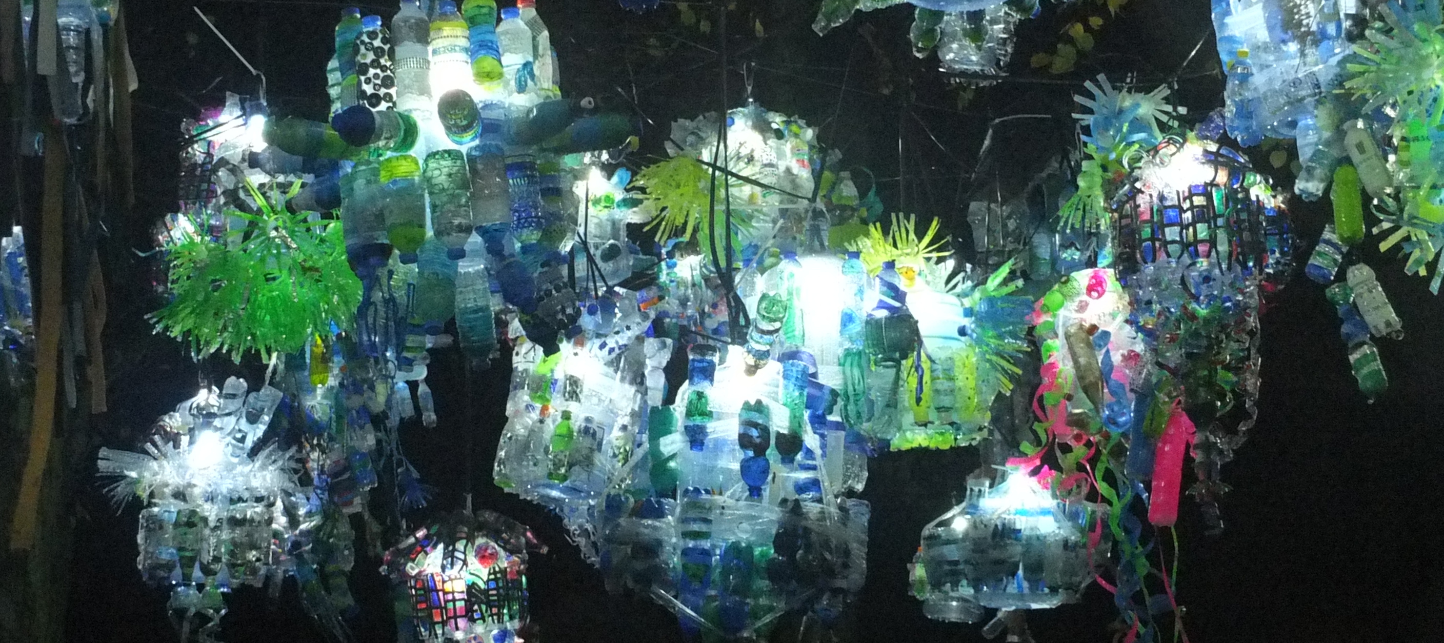 Installation out of plastic bottles at Glow Eindhoven 2015.